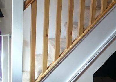 Stair rail install, Sandbach